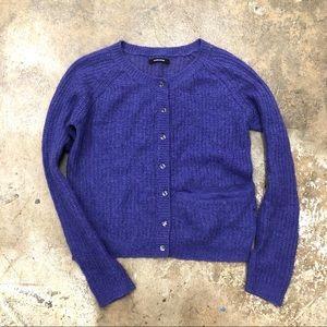 Samsoe Samsoe Knit Cardigan Clear Buttons Lavender